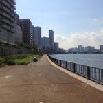 【釣り場(中央区月島)】住吉水門〜月島川水門の隅田テラス。佃公園、月島川への移動も楽々♪