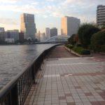 【釣り場(江東区)】永代公園沿いの隅田川テラス。