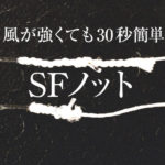 【荒川シーバス2019】SFノットとFGノット、みなさんはどちらがお好み?バチ抜けはまだよ♪