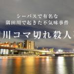【気持ち悪い事件簿】シーバスで有名なあの隅田川で発見された昭和のコマ切れ死体!あだ名がヤバい!