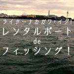 【レンタルボートで釣り!】ライターナカガワとイグ!浦安沖青物狙いのレンタルボートフィッシング!